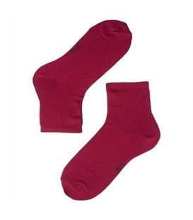 جوراب نیم ساق نخی ساده برند دوک رنگ سرخابی