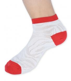 جوراب توری مچی Ekmen اکمن سفید قرمز