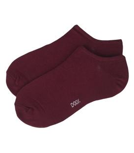 جوراب قوزکی نخی ساده برند دوک رنگ زرشکی