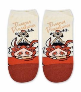 جوراب مچی طرح Timon & Pumbaa کرم