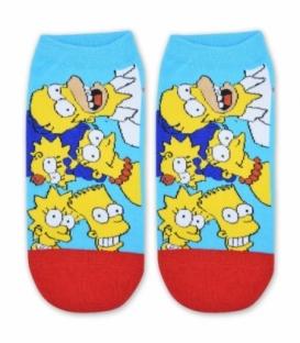 جوراب مچی طرح خانواده سیمپسون قرمز آبی