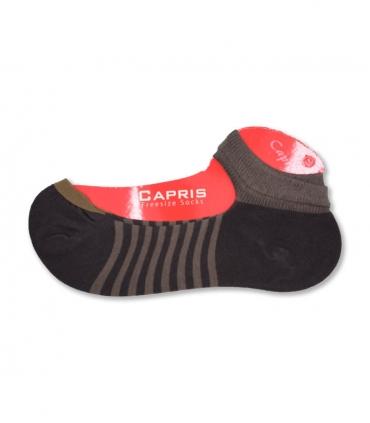 جوراب کالج مچ دار Capris کاپریس کد 1004 قهوهای