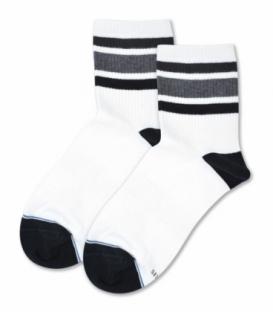جوراب نیم ساق کش انگلیسی Capris کاپریس کد KE27 مشکی سفید