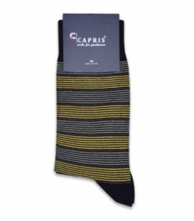 جوراب کلاسیک ساقدار Capris کاپریس کد 09 مشکی زرد