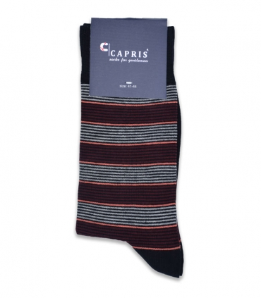 جوراب کلاسیک ساقدار Capris کاپریس کد 09 مشکی زرشکی