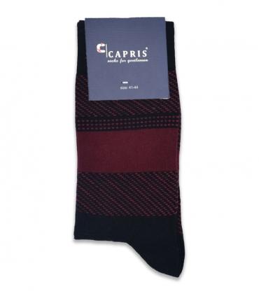جوراب کلاسیک ساقدار Capris کاپریس کد 47 مشکی زرشکی