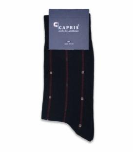 جوراب کلاسیک ساقدار Capris کاپریس کد 48 مشکی زرشکی