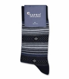 جوراب کلاسیک ساقدار Capris کاپریس کد 49 مشکی خاکستری