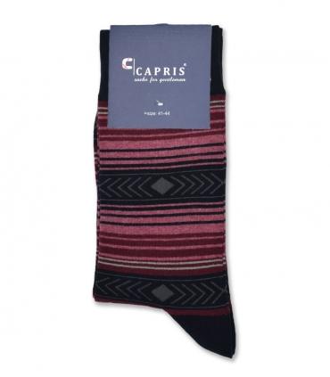 جوراب کلاسیک ساقدار Capris کاپریس کد 49 مشکی زرشکی