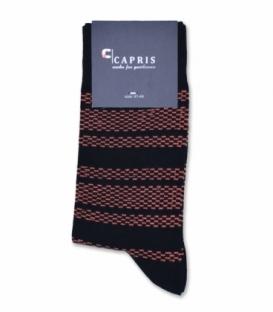 جوراب کلاسیک ساقدار Capris کاپریس کد 57 مشکی نارنجی