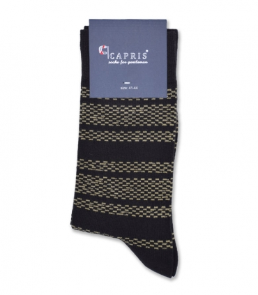 جوراب کلاسیک ساقدار Capris کاپریس کد 57 قهوهای زرد