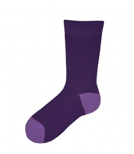جوراب ساقدار پاآرا طرح دو رنگ بنفش