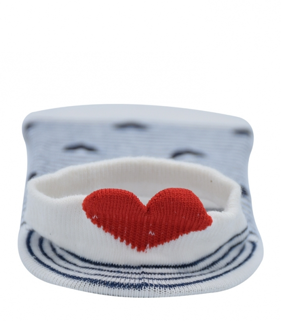 پک جوراب قوزکی پشت قلب دار - 5 جفت