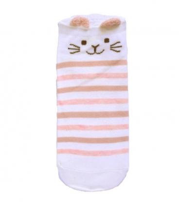 جوراب قوزکی طرح گربه راه راه