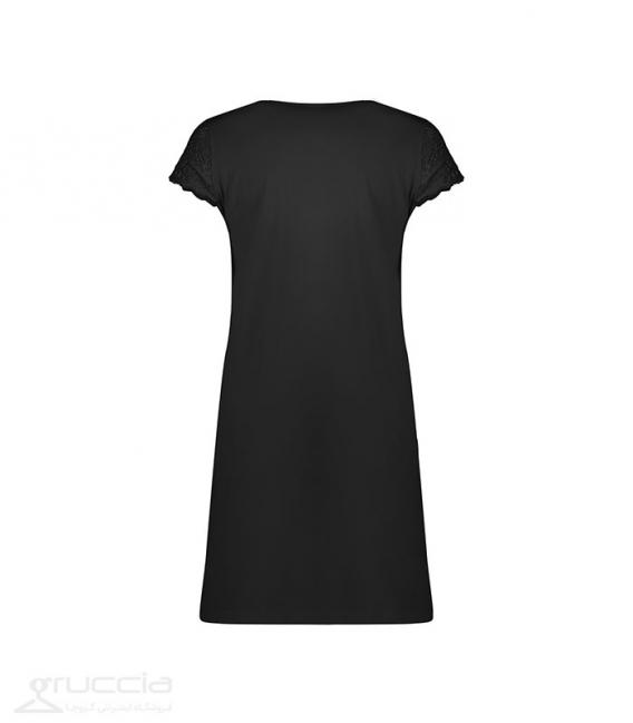 پیراهن راحتی نخ و دانتل Neev نیو مناسب شیردهی کد 4047 مشکی