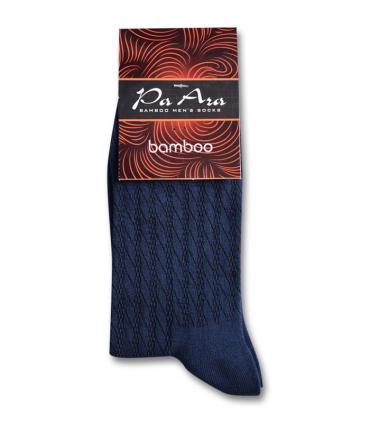جوراب بامبو ساقدار پاآرا طرح راه راه سرمهای