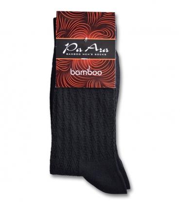 جوراب بامبو ساقدار پاآرا طرح راه راه مشکی