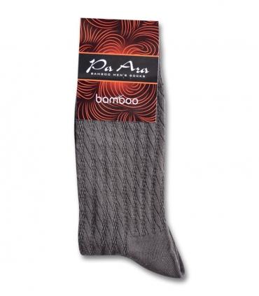 جوراب بامبو ساقدار پاآرا طرح راه راه قهوهای