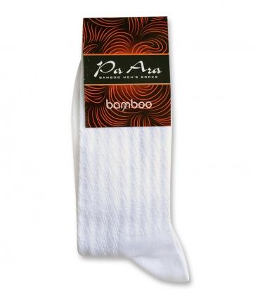 جوراب بامبو ساقدار پاآرا طرح راه راه سفید