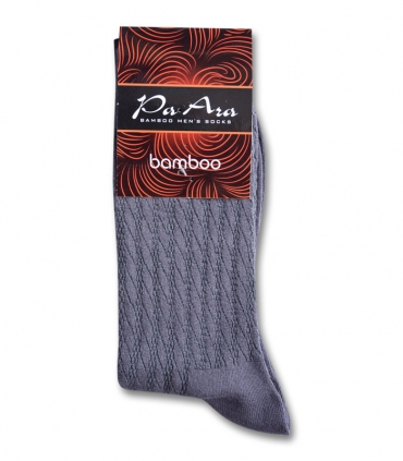 جوراب بامبو ساقدار پاآرا طرح راه راه خاکستری