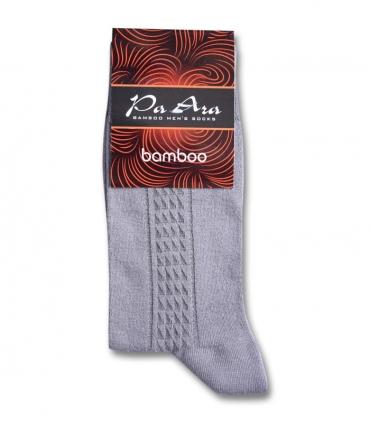 جوراب بامبو ساقدار پاآرا طرح خط دار خاکستری