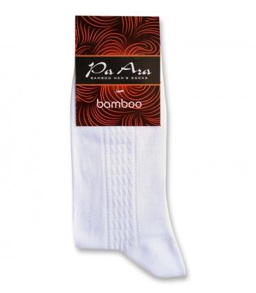 جوراب بامبو ساقدار پاآرا طرح خط دار سفید