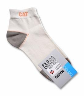 جوراب نانو نیم ساق پاآرا طرح CAT کرم