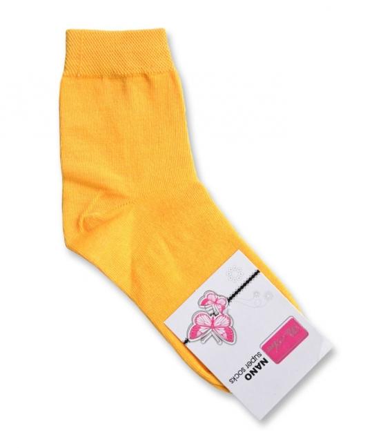 جوراب نانو نیم ساق پاآرا ساده زرد