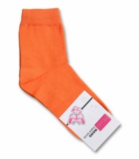 جوراب نانو نیم ساق پاآرا ساده نارنجی
