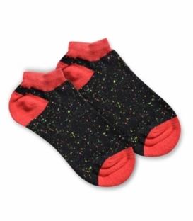 جوراب نانو مچی پاآرا طرح خال خالی مشکی قرمز