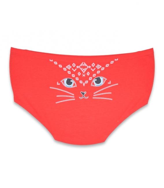 شورت هیپستر فاق بلند لیزری طرح گربه قرمز