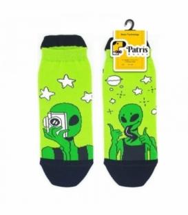 جوراب لنگه به لنگه مچی نانو پاتریس طرح الین سبز