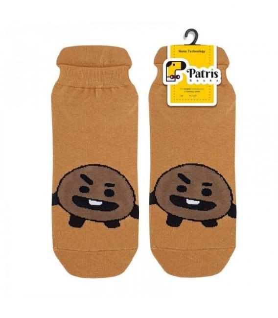 جوراب مچی نانو پاتریس طرح شوگی قهوهای