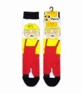 جوراب ساقدار نانو پاتریس طرح بابا برقی زرد و قرمز