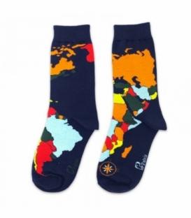 جوراب ساقدار نانو پاتریس طرح اطلس جهان سرمهای