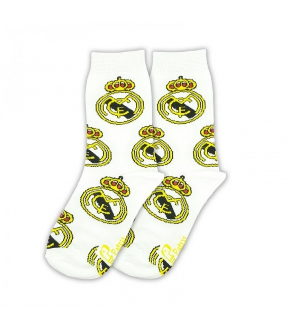 جوراب بچگانه ساقدار نانو پاتریس طرح رئال مادرید سفید