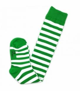جوراب بالا زانو نانو پاتریس طرح راه راه سفید سبز