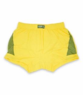 شورت مردانه نخی نیم پا Adak آداک کد 177 طرح دو رنگ زرد سبز