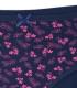 شورت زنانه اسلیپ نخی فاق بلند Ema اما کد 4040 طرح گل و برگ سرمهای