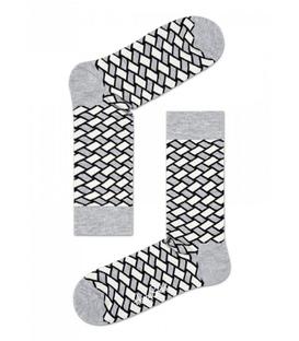 جوراب Happy Socks هپی ساکس طرح Basket خاکستری
