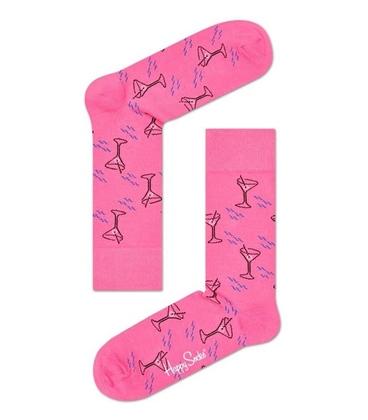 جوراب Happy Socks هپی ساکس طرح Cocktail صورتی