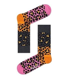 جوراب Happy Socks هپی ساکس طرح Block Leopard