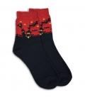 جوراب نیم ساق پاآرا طرح هالووین قرمز