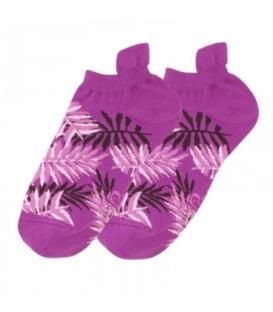 جوراب مچی نانو پاتریس طرح هاوایی بنفش