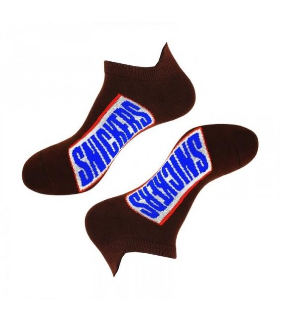 جوراب مچی نانو پاتریس طرح اسنیکرز قهوهای