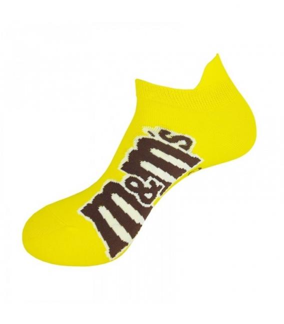 جوراب مچی نانو پاتریس طرح ام اند ام زرد