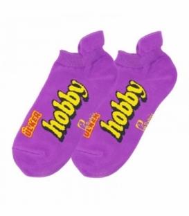 جوراب مچی نانو پاتریس طرح هوبی بنفش