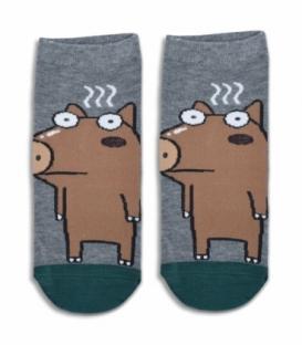 جوراب مچی طرح سگ قهوهای