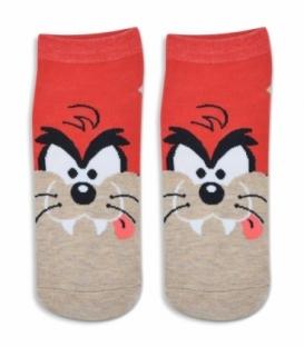 جوراب مچی طرح گربه قرمز کرم