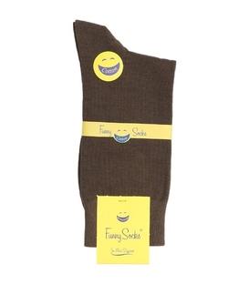 جوراب فانی ساکس ساق بلند مردانه قهوهای